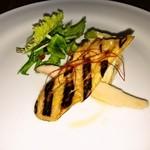 カフェレストラン ラヴィータ - なすとエリンギのマリネとキッシュオムレツ(前菜)