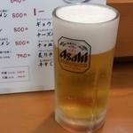 ももちゃんラーメン - 生ビール(450円)