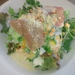 スカイラウンジ クレア - 料理写真:「オムライス シーザーサラダ添え (1000円)」、なかなか斬新でした