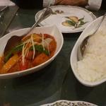 インド料理 ショナ・ルパ - ホットカレー海老とライス(1500円+450円)