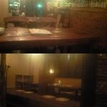 南風荘 - 上:テーブル席。下:小上がりのお座敷は板張りでタイ料理屋によくある感じのいい雰囲気