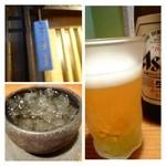 キヨノ - 先ずは「ビール」、その後「梅酒」を頂きました。
