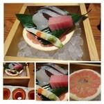 キヨノ - お刺身(鯖・トロ・鯛)