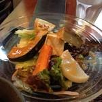里山カフェ - 有機野菜とオーブン焼き野菜のサラダ
