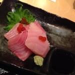 和食と和酒 磯じまん - 刺身は天然ブリ!これは旨い!