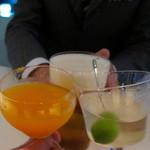 BAR PARTAGE - 三輪さんと3人で乾杯♪