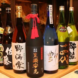 日本酒と焼酎を数多く取り揃えております。ぜひご賞味くださいませ。