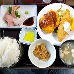大衆割烹八珍柿 - おまかせ定食(大盛り)
