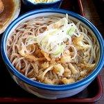 伊勢福 - カツ煮セット(たぬきそば)