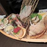 蔵三 - 夕食舟盛り