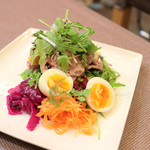 Le 日本食堂 - 米沢豚肩ロースの手づくりハムサラダ (1000円) '14 1月中旬