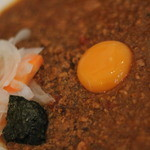 辛口伽麗レテテ - キーマカレー+たまご