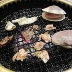 焼肉 いしび - 魚介にお肉を楽しみました♪