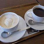 上島珈琲店 - ウィンナコーヒーとのブレンドコーヒー