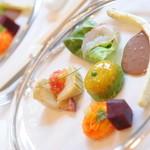 ジャルダン ポタジェ テラニシ - 春野菜の前菜盛り合せ