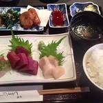 球磨川 - 刺身定食1500円