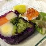 ジャルダン ポタジェ テラニシ - 十勝産ポアロと根セロリの紫キャベツ巻き