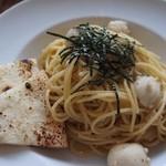 24064745 - 白ごま風味の鶏ミンチと里芋の和風パスタ