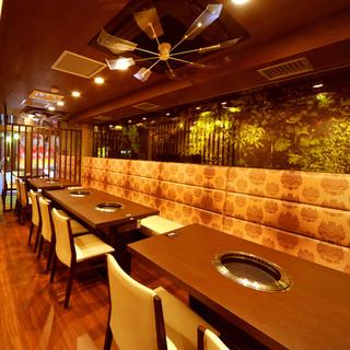 焼肉屋のイメージを覆す、アジアンリゾートのような美空間◎
