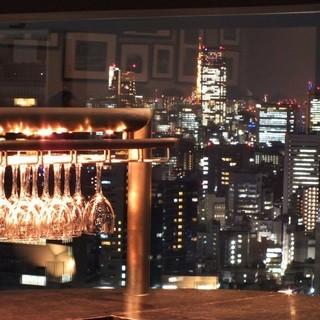 29階大窓から新宿の夜景を一望