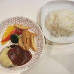 ホイッスルカフェ - ホイッスルハンバーグ(チーズ)、ライス 1029円