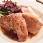 舵 - 鶏もも肉のローストハニーマスタードソース¥980