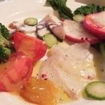 舵 - 本日の鮮魚と奈良野菜のカルパッチョ¥980