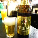 和泉屋 - エビスビール(中瓶)580円