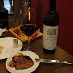 イタリアンバル バル道 - 牛肉とアバディア・デ・ロブレ〈赤〉