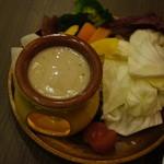 イタリアンバル バル道 - バーニャカウダと野菜