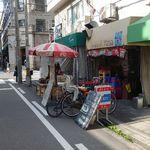 タイ屋台 racha - 視点:裏通り沿い西向き(南西方向に心斎橋駅)