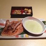 てんのてん - 銀鮭カマの塩焼き定食