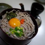 本家大梶 - 三色割子そば(800円)