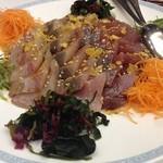 中国料理 李芳 - 鰤の中華風お刺身