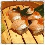 魚民 - 炙りサーモン寿司