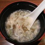 Chuugokutairikuryourisuisenkaku - 最初に出てきたスープ