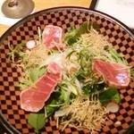 和食ダイニング まぐろ問屋 三浦三崎港 - 炙り中トロサラダのハーフ