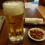 24088919 - 生ビール、お通し