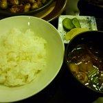 仙台かき徳 - ご飯・汁・香の物