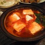 飛騨の里 - 「豆腐の四川風 (300円)」