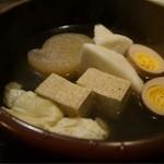 俺のおでん 代官山 - はんぺん、卵、大根、焼豆腐、湯葉