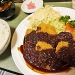 グリルくいしん坊 - 味噌ヒレカツ定食1370円