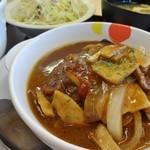 松屋 - デミきのこハンバーグ定食