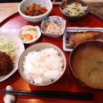 のだ - 料理写真:日替わり定食850円(2014.2月)