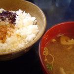 BAY BRIDGE - ランチのご飯と味噌汁