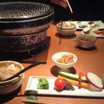 2410649 - 夜のコース・ざる豆腐と生野菜サラダ