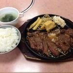 富士焼肉 - ステーキランチ1050円だけど金曜日は850円になります。