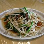 趙雲 - 日替りランチの鶏レバーニラ炒め