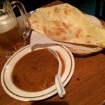 RENU - キーマカレー  どうしてもここで〆たかった今夜…  やっぱり美味しいな‼︎ 満足^_^