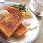 まるみ食堂 - モーニングセット(480円)
